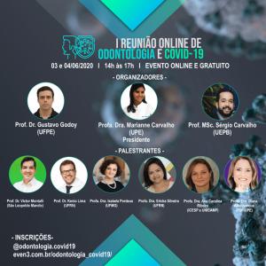 1º Encontro On-line de Odontologia e Covid-19 debate nova realidade da prática odontológica